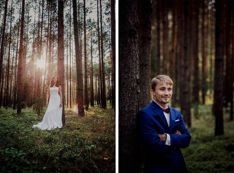 plener slubny w lesie Marta i Michal 004