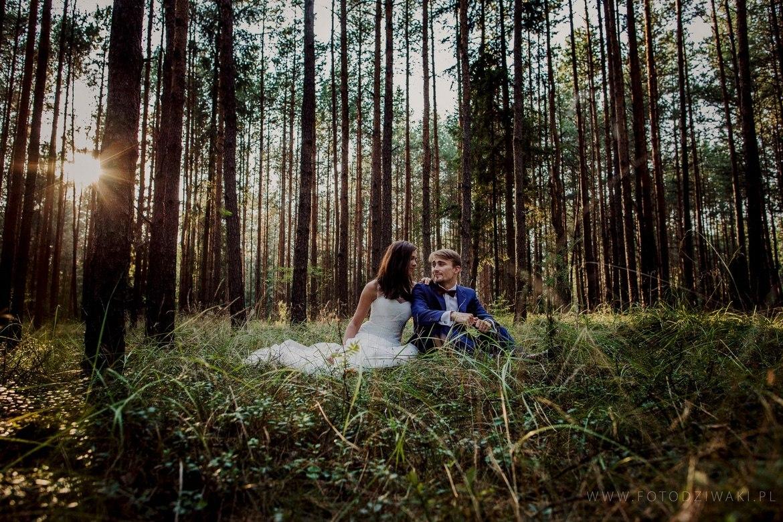 plener slubny w lesie Marta i Michal 008