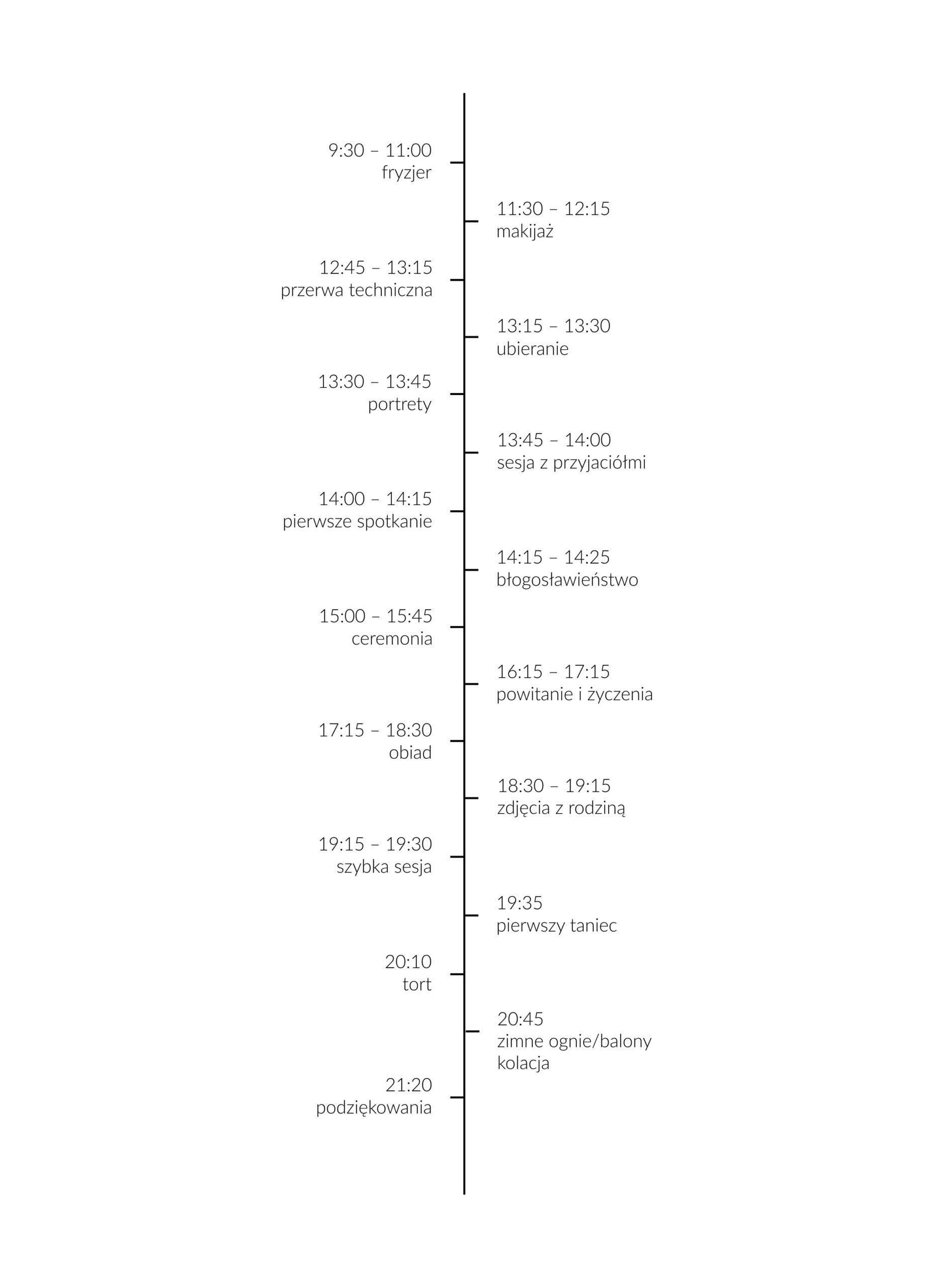 jak zaplanowac czas w dniu slubu scaled - 1